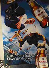 Werbeplakat Sagres Bier Portugal